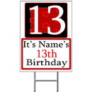 Partypro BANNER-Y13 Personalized 13 Year Old Yard Sign