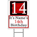 Partypro BANNER-Y14 Personalized 14 Year Old Yard Sign