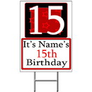 Partypro BANNER-Y15 Personalized 15 Year Old Yard Sign