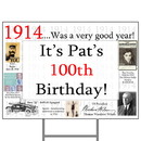 Partypro BANNER-Y1914 1914 Personalized Yard Sign