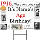 Partypro BANNER-Y1916 1916 Personalized Yard Sign