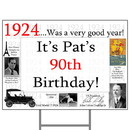 Partypro BANNER-Y1924 1924 Personalized Yard Sign