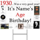 Partypro BANNER-Y1930 1930 Personalized Yard Sign