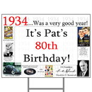 Partypro BANNER-Y1934 1934 Personalized Yard Sign