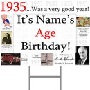 Partypro BANNER-Y1935 1935 Personalized Yard Sign