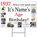 Partypro BANNER-Y1937 1937 Personalized Yard Sign