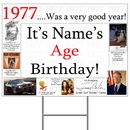Partypro BANNER-Y1977 1977 Personalized Yard Sign