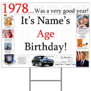Partypro BANNER-Y1978 1978 Personalized Yard Sign