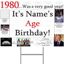 Partypro BANNER-Y1980 1980 Personalized Yard Sign