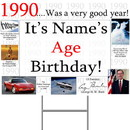 Partypro BANNER-Y1990 1990 Personalized Yard Sign