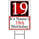 Partypro BANNER-Y19 Personalized 19 Year Old Yard Sign