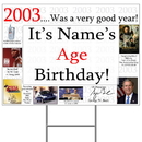 Partypro BANNER-Y2003 2003 Personalized Yard Sign