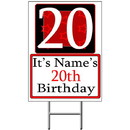 Partypro BANNER-Y20 Personalized 20 Year Old Yard Sign