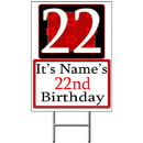 Partypro BANNER-Y22 Personalized 22 Year Old Yard Sign