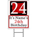 Partypro BANNER-Y24 Personalized 24 Year Old Yard Sign