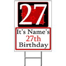 Partypro BANNER-Y27 Personalized 27 Year Old Yard Sign