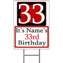 Partypro BANNER-Y33 Personalized 33 Year Old Yard Sign