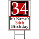 Partypro BANNER-Y34 Personalized 34 Year Old Yard Sign
