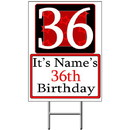 Partypro BANNER-Y36 Personalized 36 Year Old Yard Sign