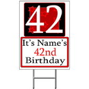 Partypro BANNER-Y42 Personalized 42 Year Old Yard Sign
