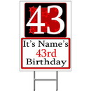Partypro BANNER-Y43 Personalized 43 Year Old Yard Sign