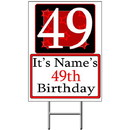 Partypro BANNER-Y49 Personalized 49 Year Old Yard Sign