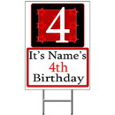 Partypro BANNER-Y4 Personalized 4 Year Old Yard Sign