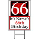 Partypro BANNER-Y66 Personalized 66 Year Old Yard Sign