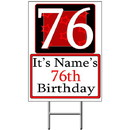 Partypro BANNER-Y76 Personalized 76 Year Old Yard Sign