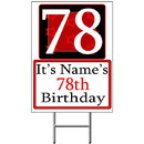 Partypro BANNER-Y78 Personalized 78 Year Old Yard Sign