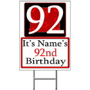 Partypro BANNER-Y92 Personalized 92 Year Old Yard Sign