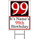 Partypro BANNER-Y99 Personalized 99 Year Old Yard Sign