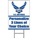 Partypro BANNER-YAF Air Force Personalized Yard Sign