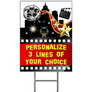 Partypro BANNER-YHOLLY Hollywood Yard Sign