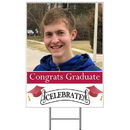 Partypro BANNER-YPHCR Crimson-Red Photo Graduation Yard Sign