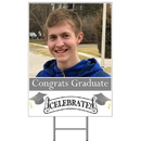 Partypro BANNER-YPHSI Silver Photo Graduation Yard Sign