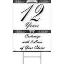 Partypro BANNER-YYEAR12 12 Years Classy Black Yard Sign