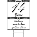 Partypro BANNER-YYEAR14 14 Years Classy Black Yard Sign