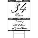 Partypro BANNER-YYEAR34 34 Years Classy Black Yard Sign