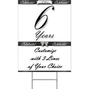 Partypro BANNER-YYEAR6 6 Years Classy Black Yard Sign