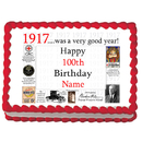 Partypro EDIBLE-1917 1917 Personalized Icing Art