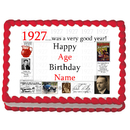 Partypro EDIBLE-1927 1927 Personalized Icing Art