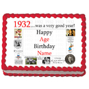 Partypro EDIBLE-1932 1932 Personalized Icing Art