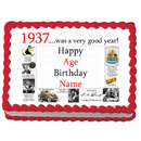 Partypro EDIBLE-1937 1937 Personalized Icing Art