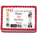 Partypro EDIBLE-1942 1942 Personalized Icing Art