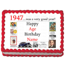 Partypro EDIBLE-1947 1947 Personalized Icing Art