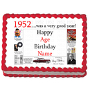 Partypro EDIBLE-1952 1952 Personalized Icing Art