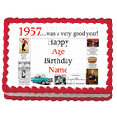 Partypro EDIBLE-1957 1957 Personalized Icing Art