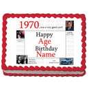 Partypro EDIBLE-1970 1970 Personalized Icing Art