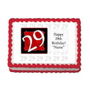 Partypro EDIBLE-29RED 29Th Birthday Red Edible Image